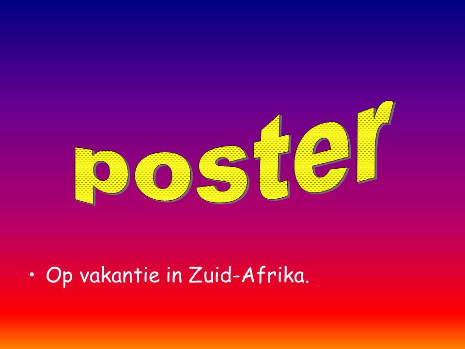 poster Op vakantie in Zuid-Afrika.