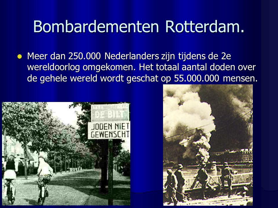 Bombardementen Rotterdam.