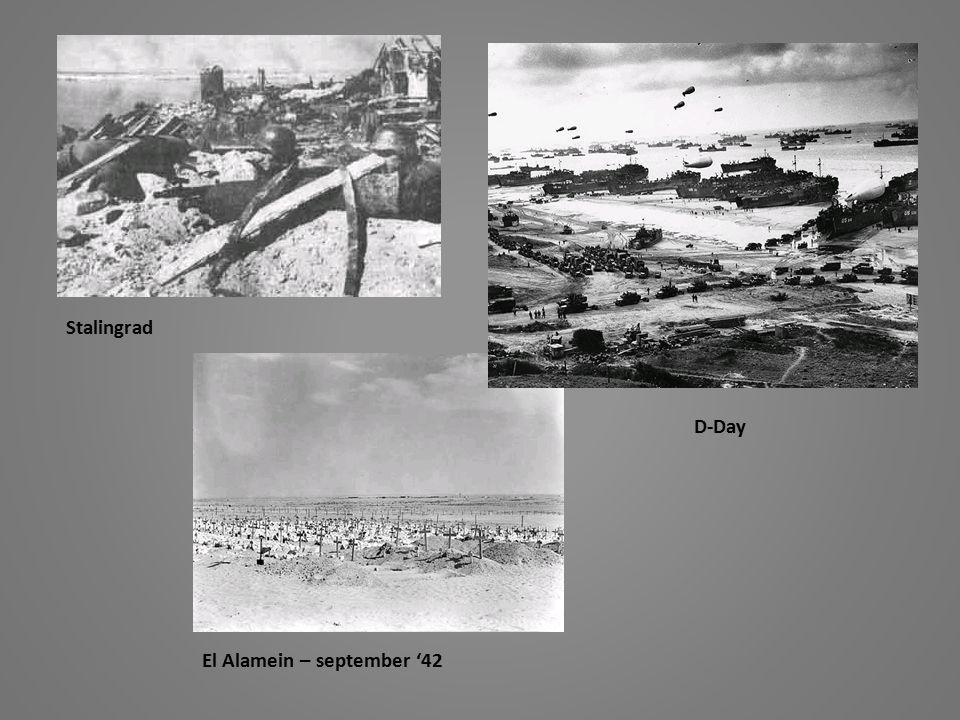 Stalingrad D-Day El Alamein – september '42