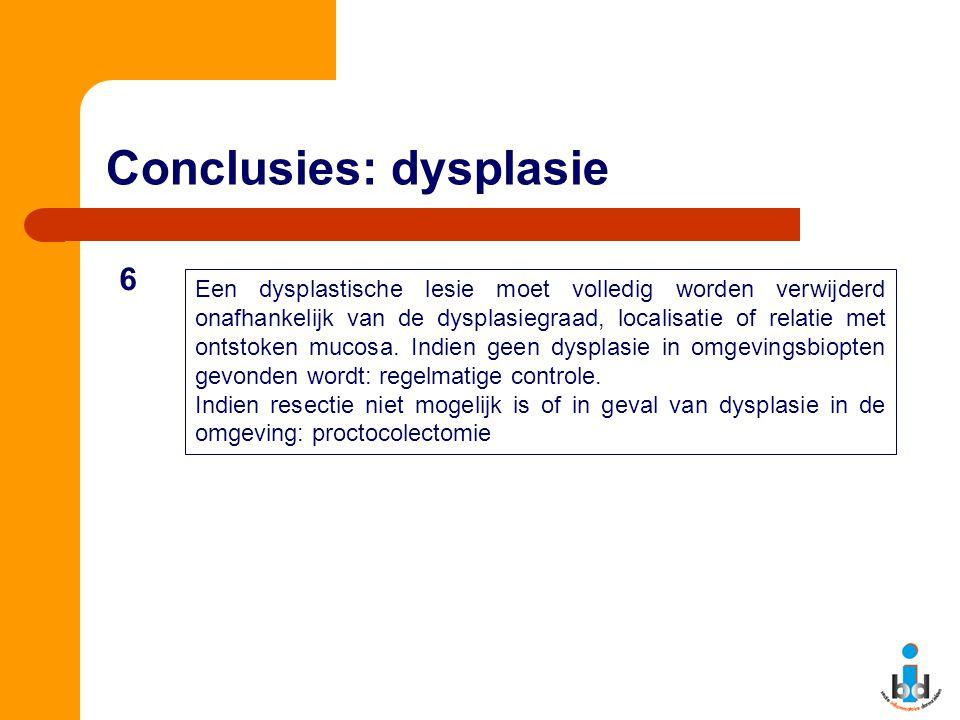 Conclusies: dysplasie