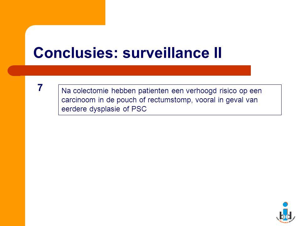 Conclusies: surveillance II