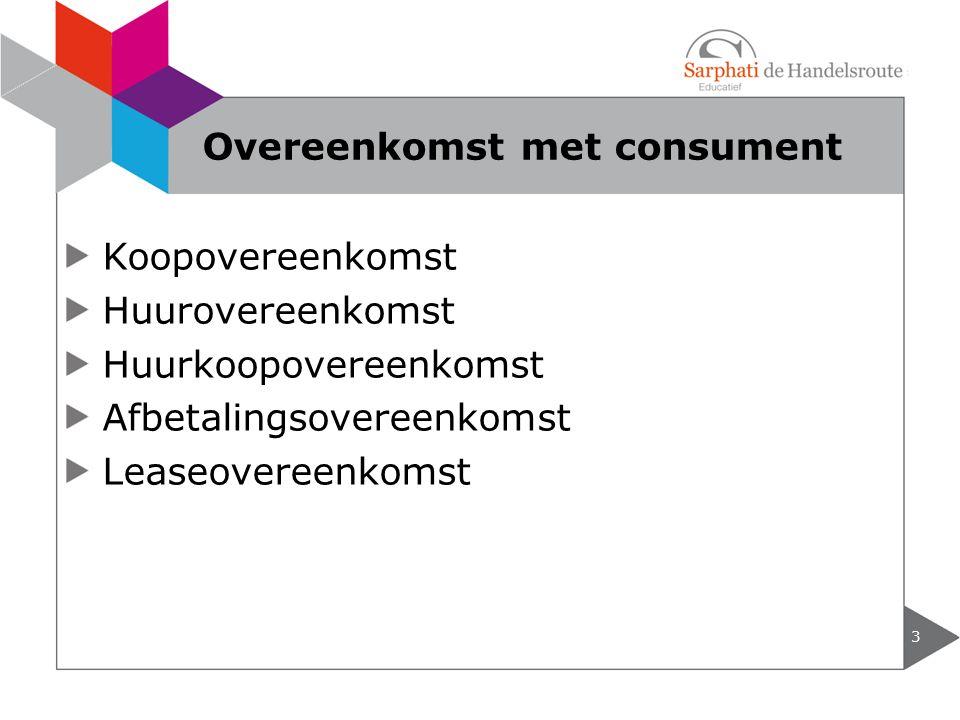 Overeenkomst met consument
