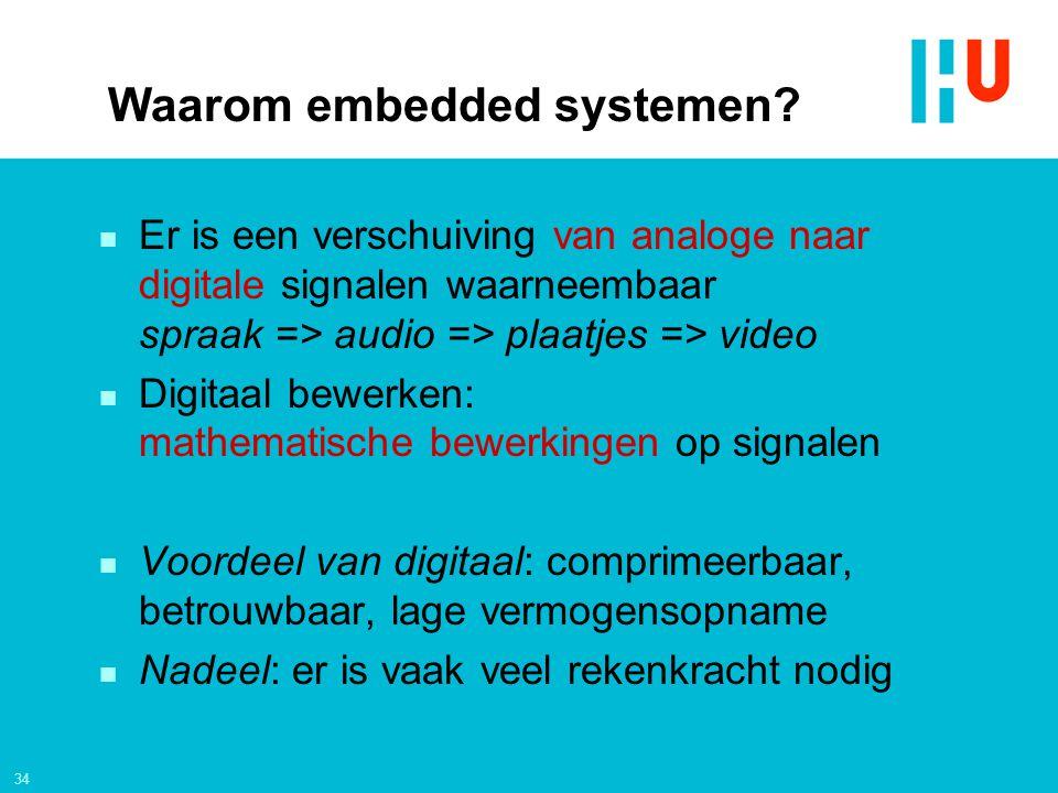 Waarom embedded systemen