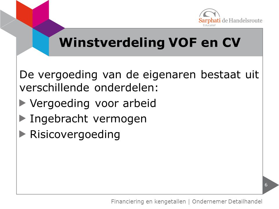 Winstverdeling VOF en CV