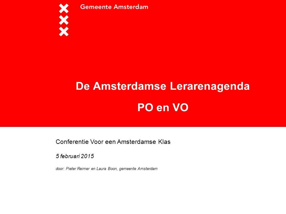 De Amsterdamse Lerarenagenda PO en VO