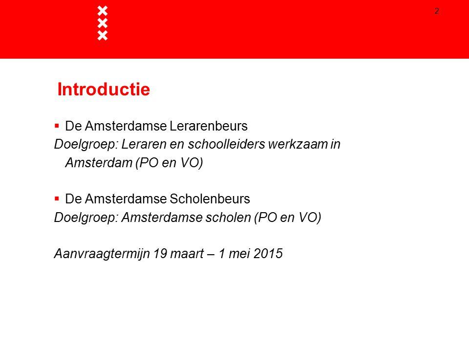 Introductie De Amsterdamse Lerarenbeurs