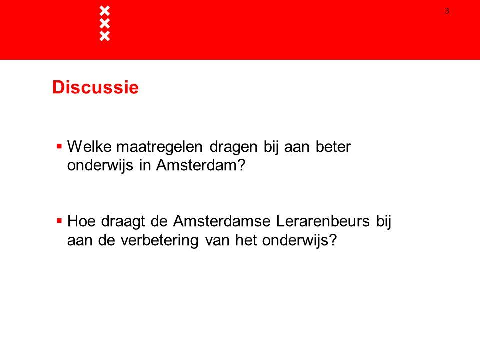 Discussie Welke maatregelen dragen bij aan beter onderwijs in Amsterdam