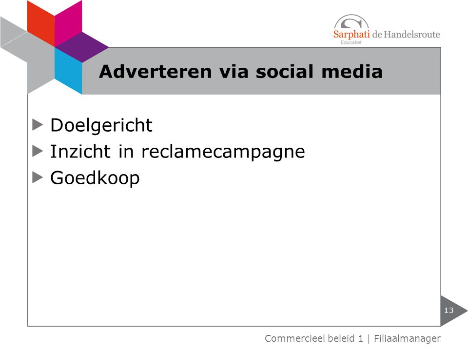 Adverteren via social media