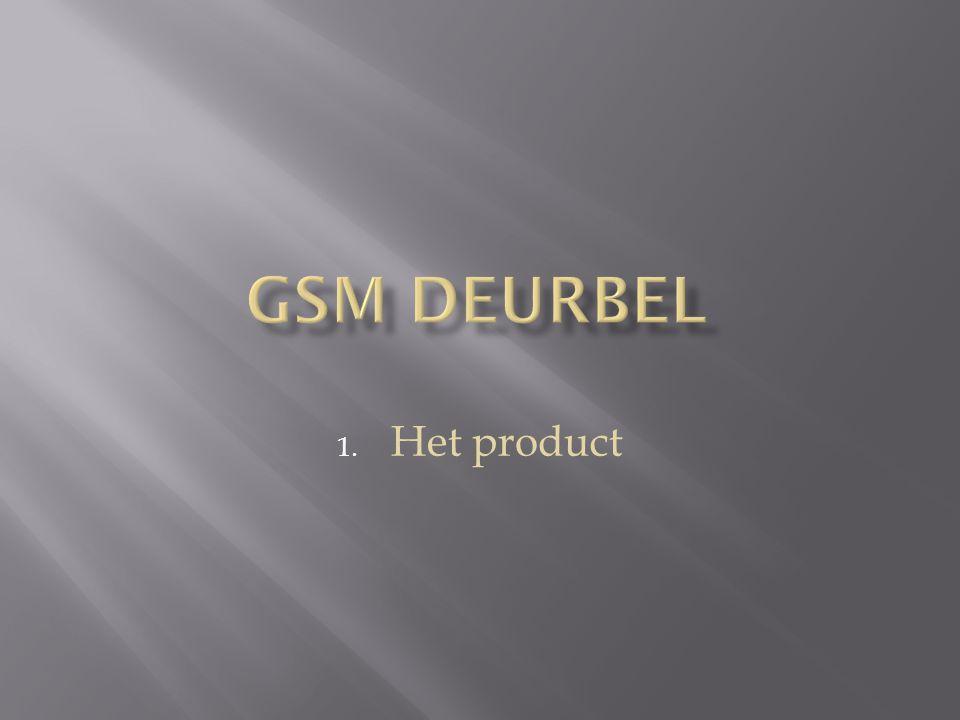 GSM deurbel Het product