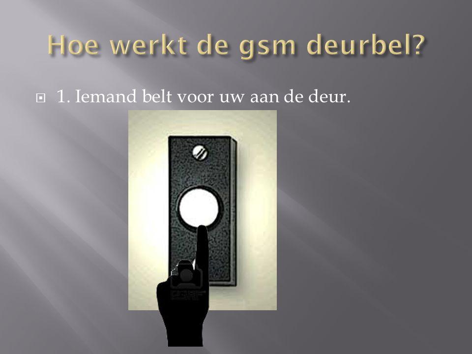 Hoe werkt de gsm deurbel