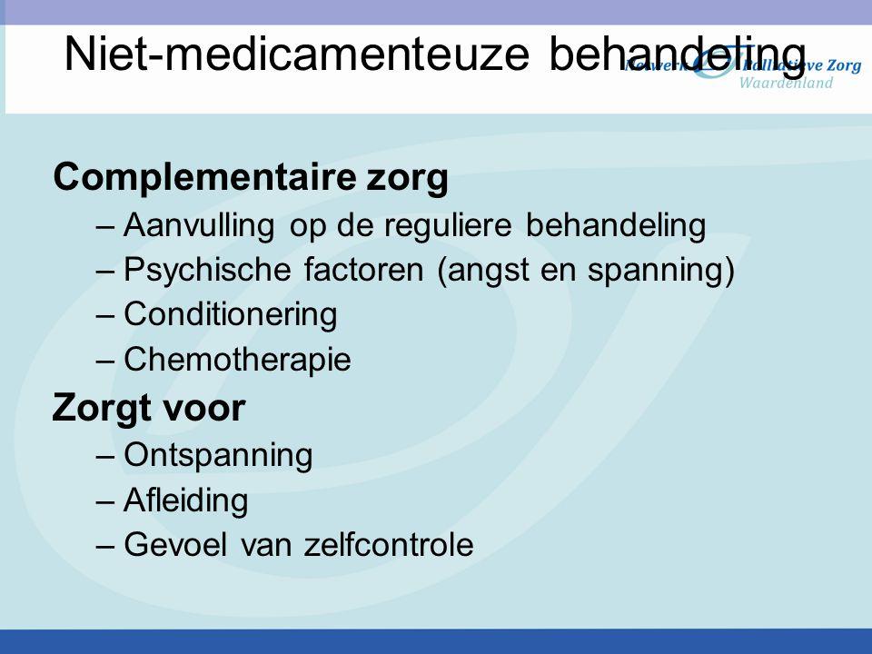 Niet-medicamenteuze behandeling