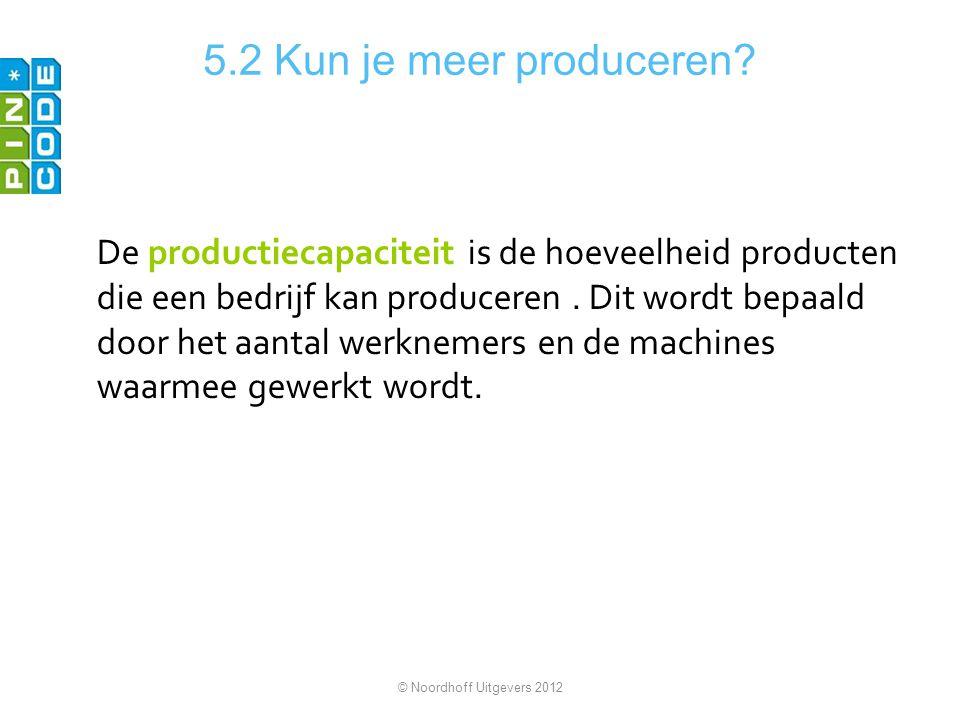 5.2 Kun je meer produceren
