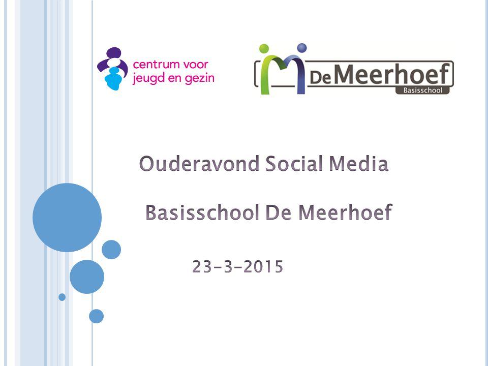Ouderavond Social Media Basisschool De Meerhoef