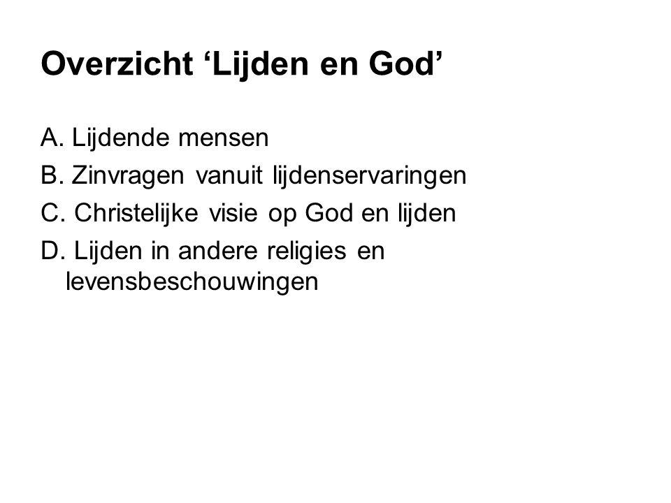 Overzicht 'Lijden en God'