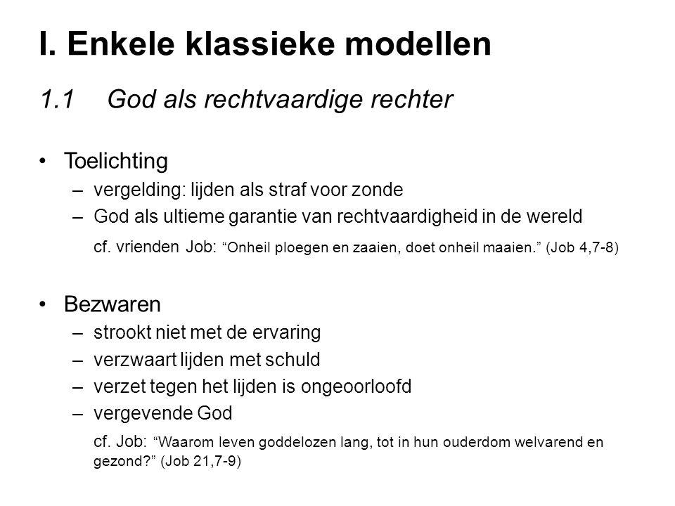 I. Enkele klassieke modellen