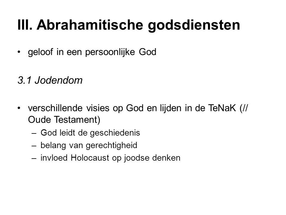 III. Abrahamitische godsdiensten