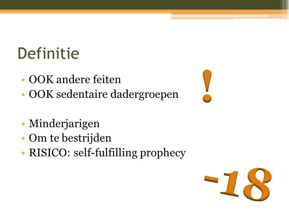 ! -18 Definitie OOK andere feiten OOK sedentaire dadergroepen