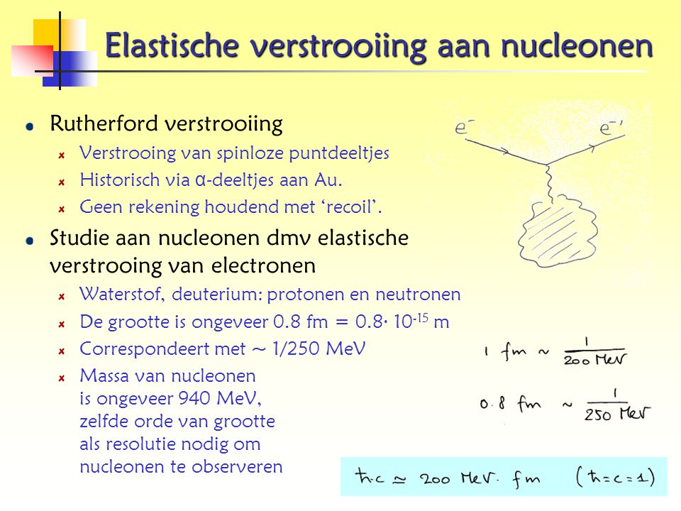 Elastische verstrooiing aan nucleonen