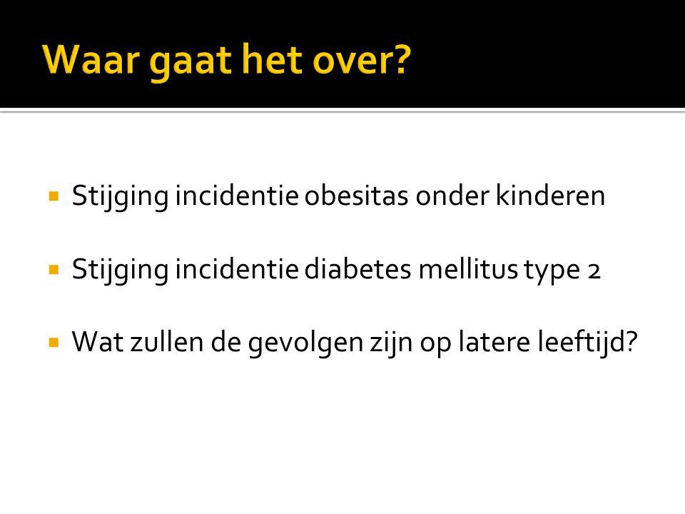 Waar gaat het over Stijging incidentie obesitas onder kinderen