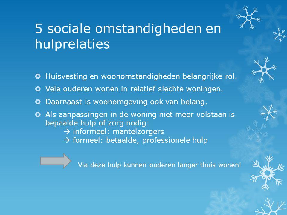 5 sociale omstandigheden en hulprelaties