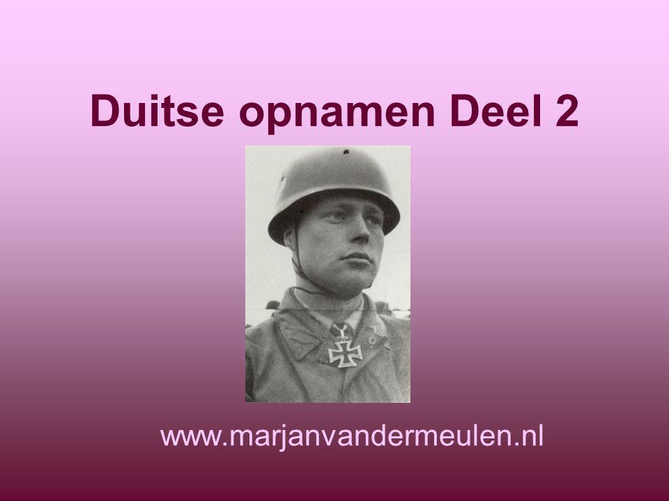 Duitse opnamen Deel 2 www.marjanvandermeulen.nl