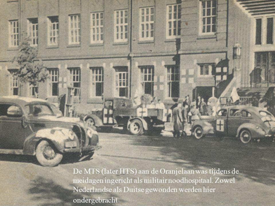 De MTS (later HTS) aan de Oranjelaan was tijdens de meidagen ingericht als militair noodhospitaal.