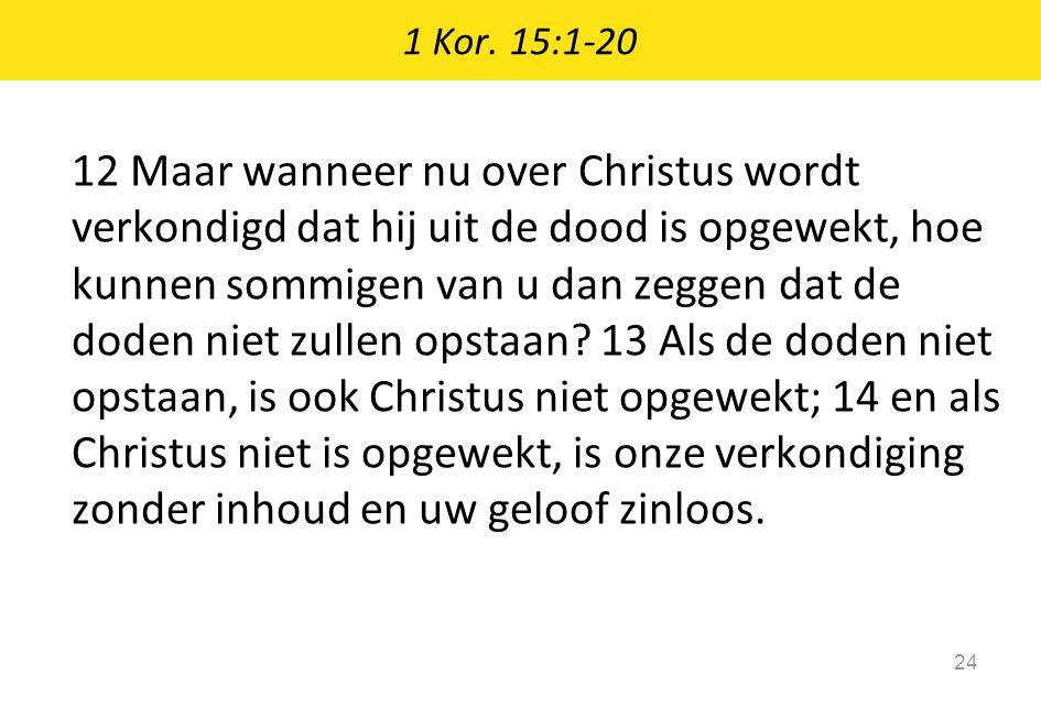 1 Kor. 15:1-20
