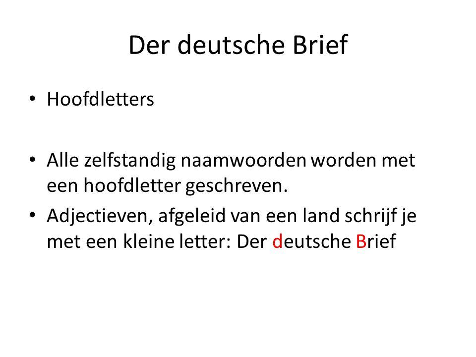 Der deutsche Brief Hoofdletters