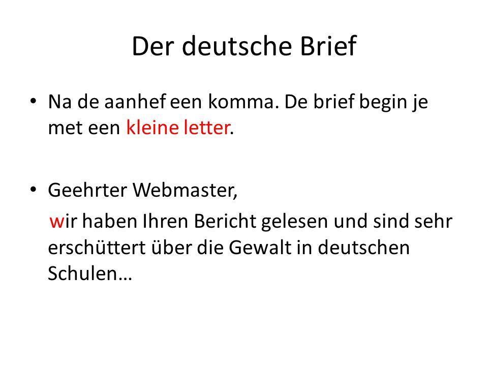 Aanhef Duitse Brief | hetmakershuis