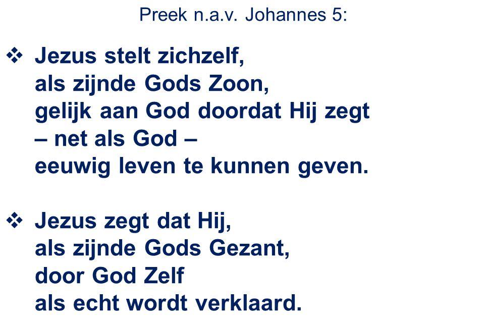 Preek n.a.v. Johannes 5: