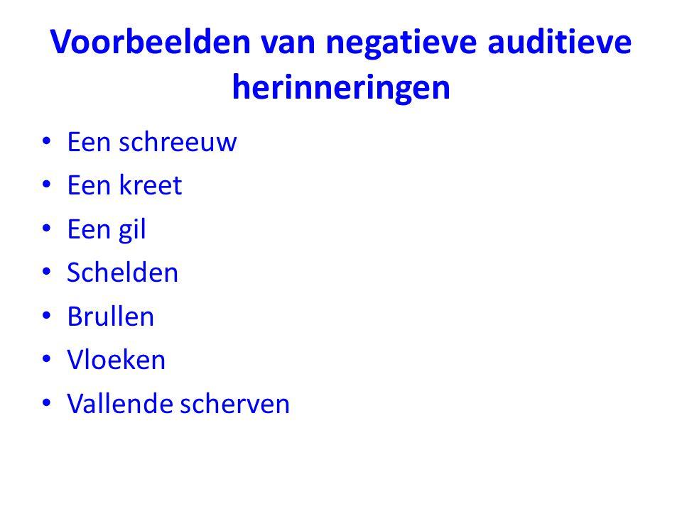 Voorbeelden van negatieve auditieve herinneringen