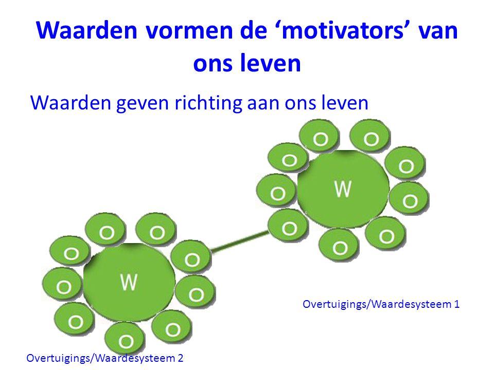 Waarden vormen de 'motivators' van ons leven