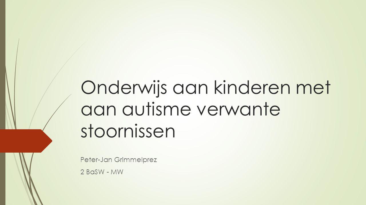 Onderwijs aan kinderen met aan autisme verwante stoornissen