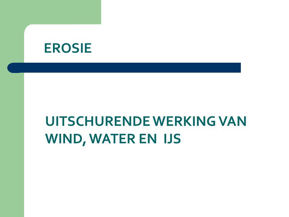 EROSIE UITSCHURENDE WERKING VAN WIND, WATER EN IJS
