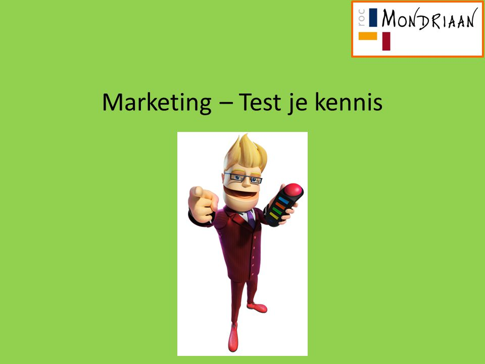 Marketing – Test je kennis