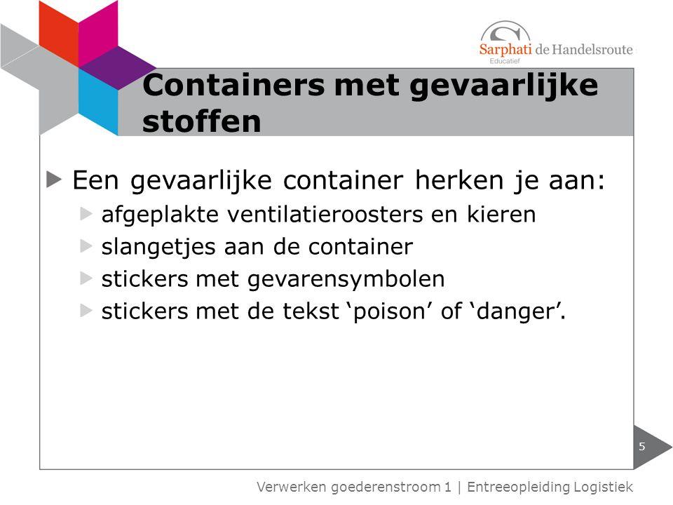 Containers met gevaarlijke stoffen