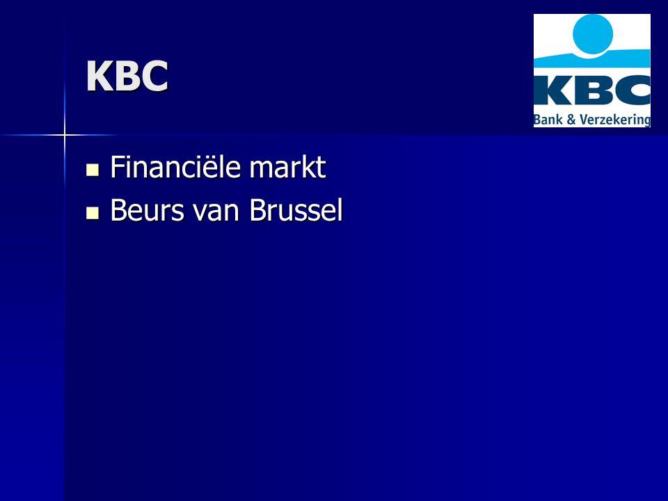 KBC Financiële markt Beurs van Brussel