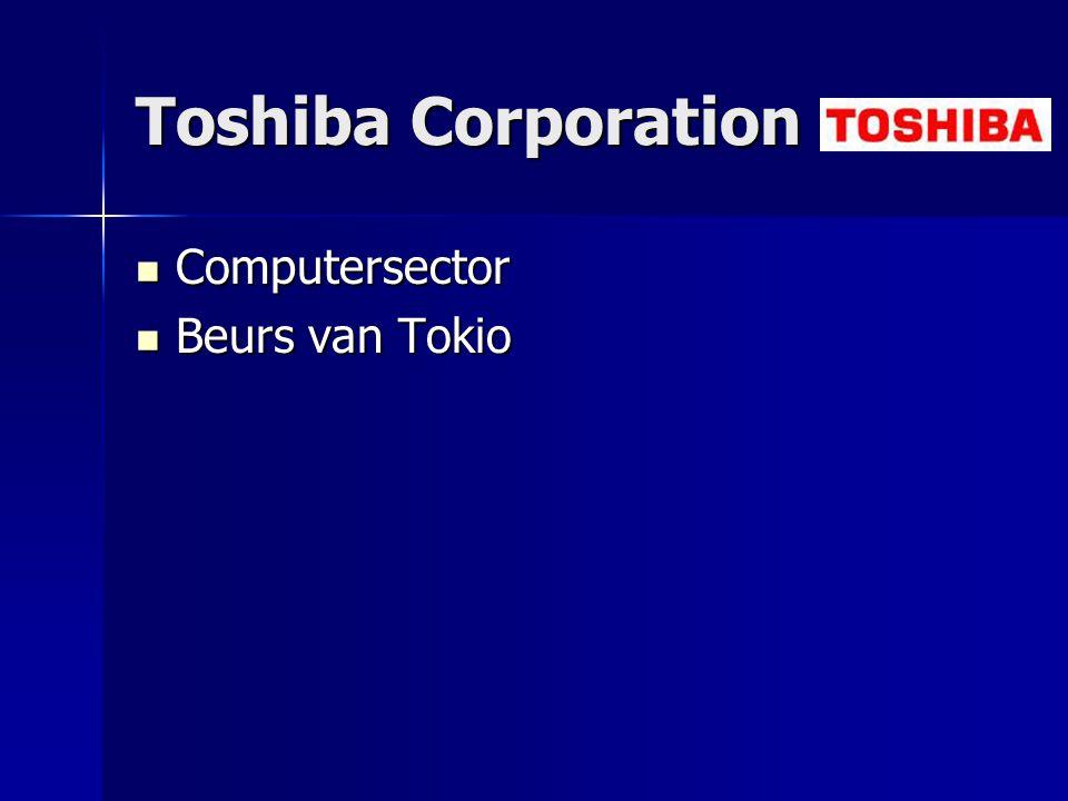 Toshiba Corporation Computersector Beurs van Tokio
