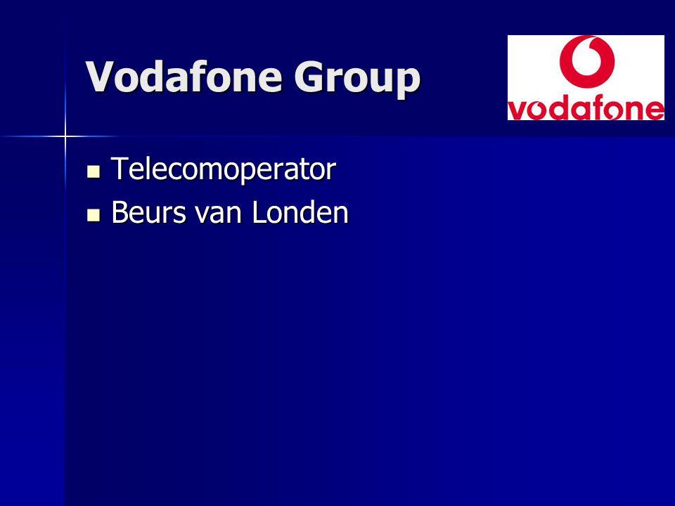 Vodafone Group Telecomoperator Beurs van Londen