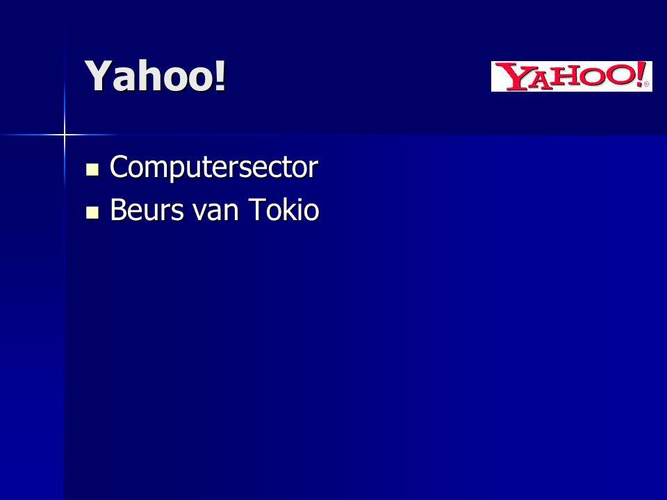 Yahoo! Computersector Beurs van Tokio