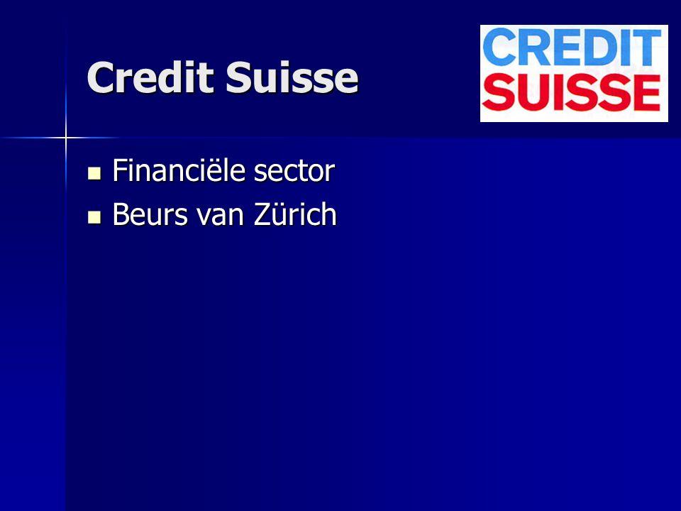 Credit Suisse Financiële sector Beurs van Zürich