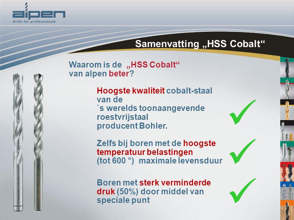 """Samenvatting """"HSS Cobalt"""