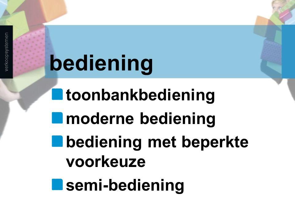 bediening toonbankbediening moderne bediening