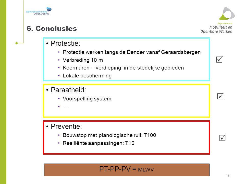    6. Conclusies Protectie: Paraatheid: Preventie: PT-PP-PV = MLWV