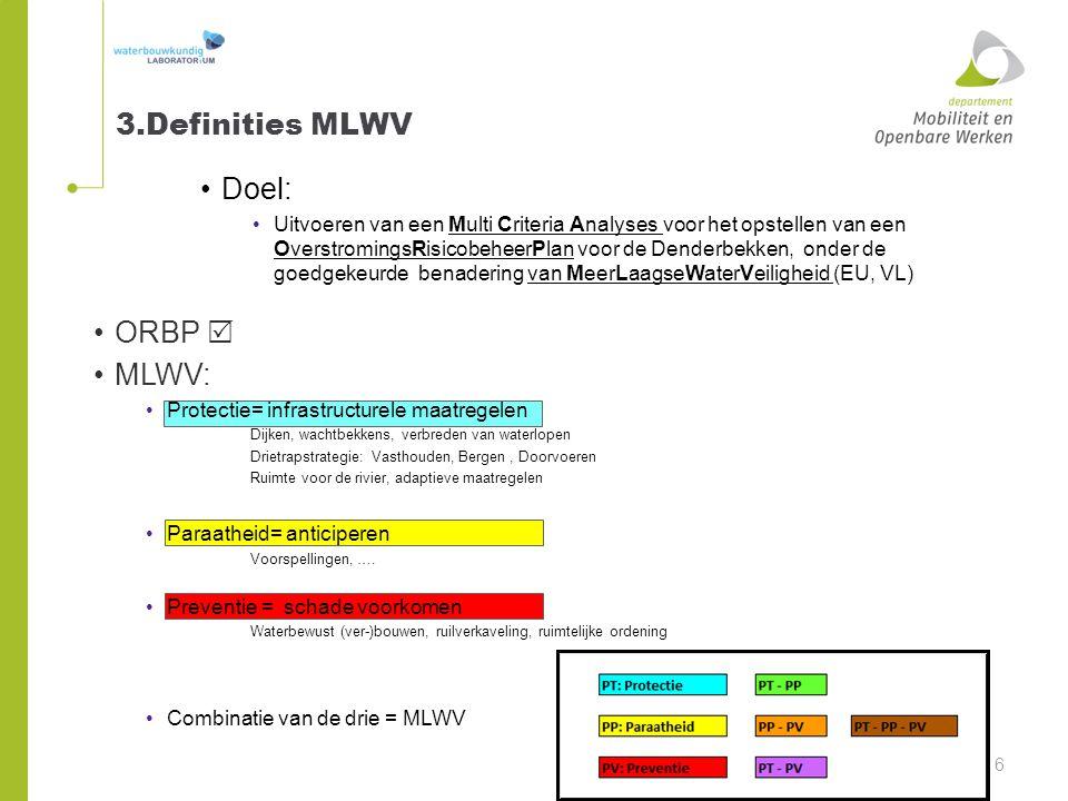 3.Definities MLWV Doel: ORBP  MLWV: