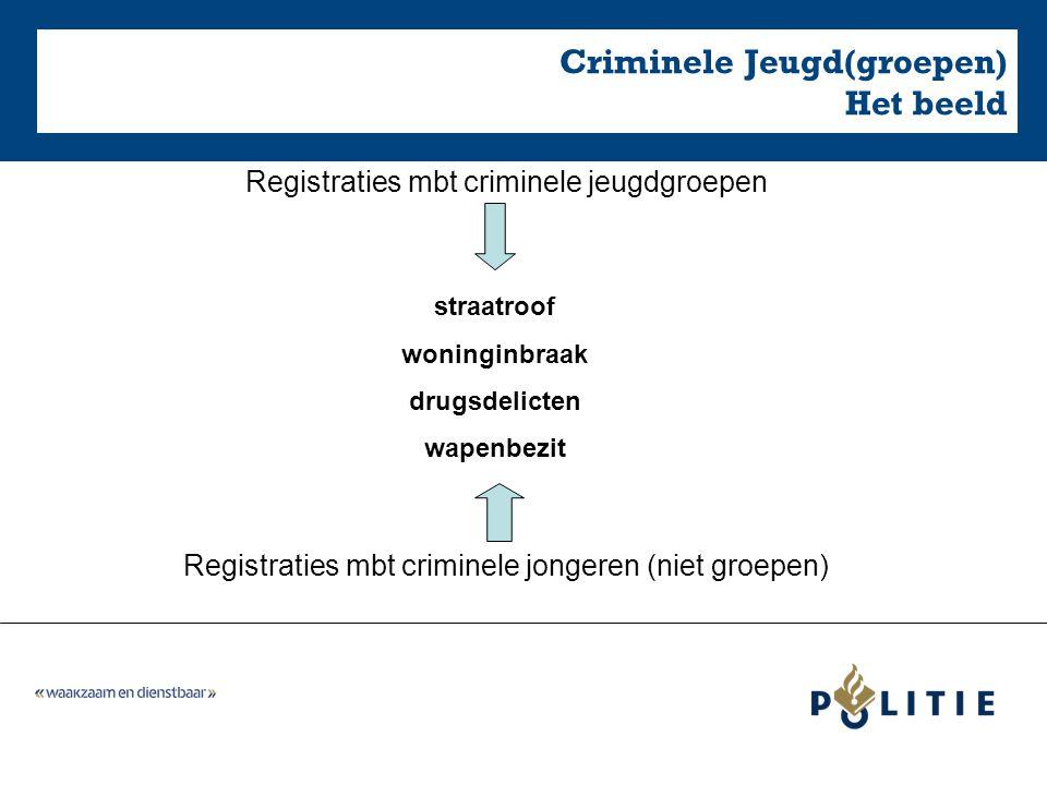 Criminele Jeugd(groepen) Het beeld