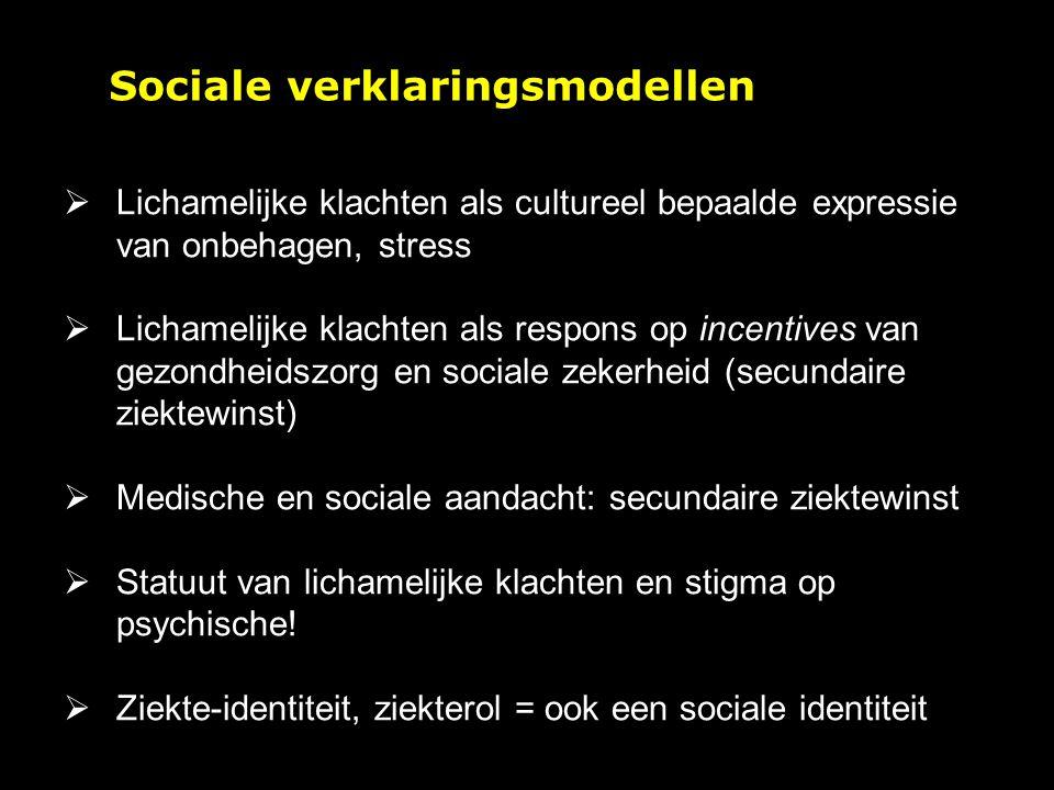 Sociale verklaringsmodellen