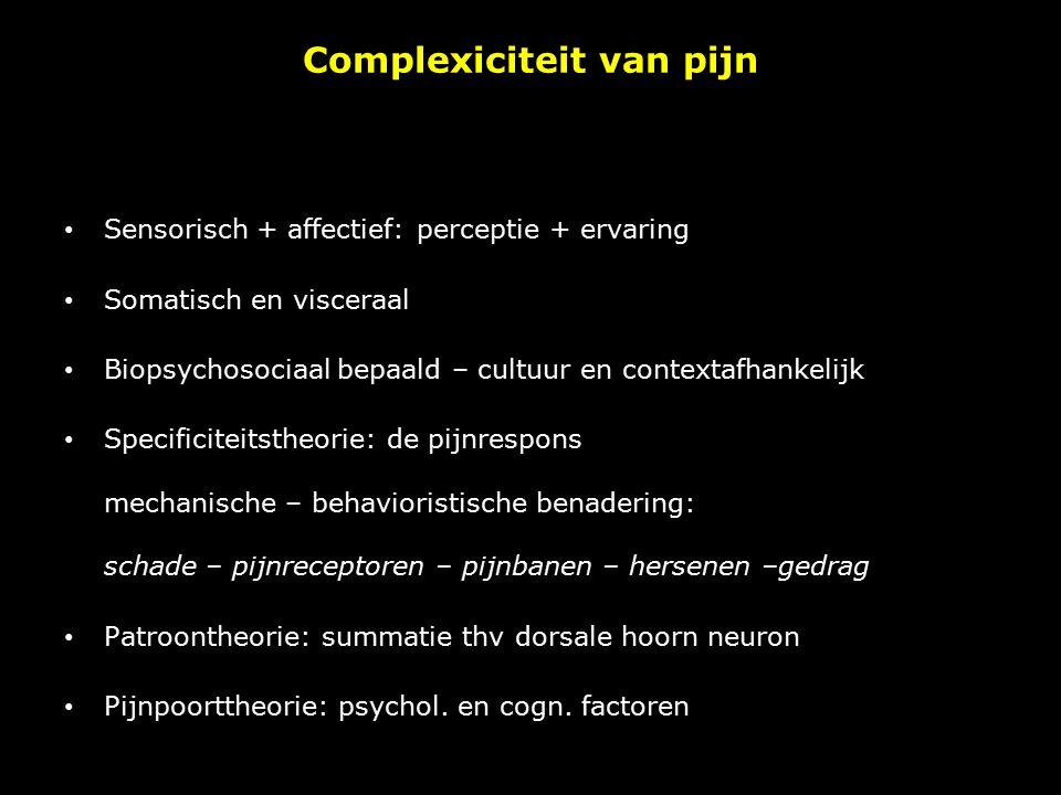 Complexiciteit van pijn