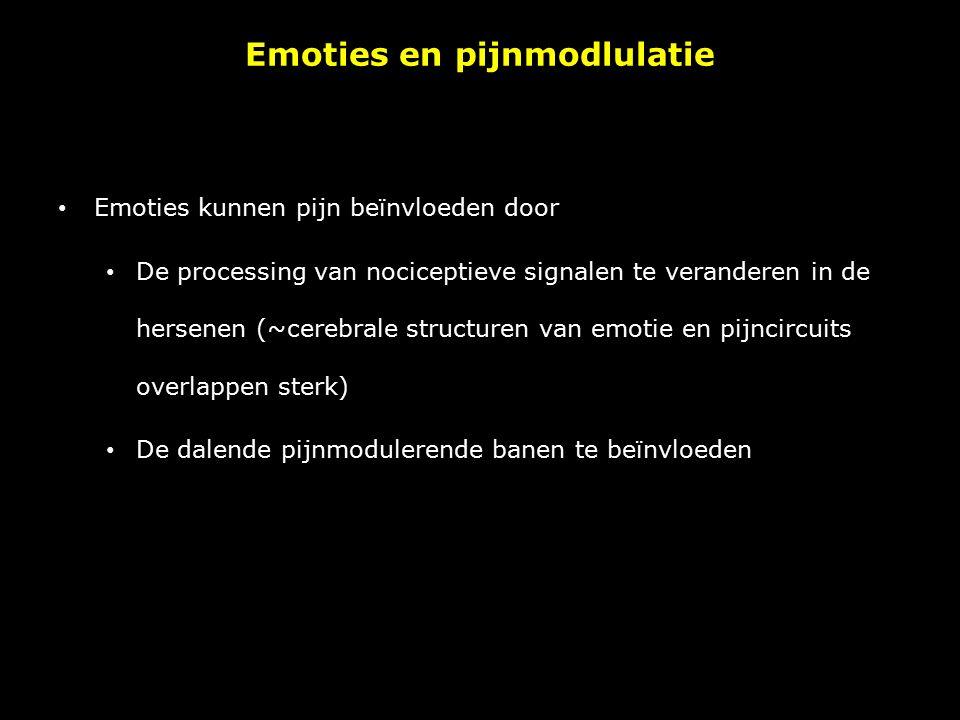 Emoties en pijnmodlulatie