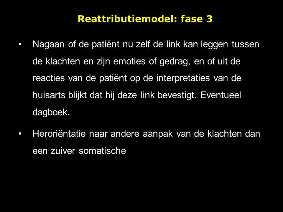 Reattributiemodel: fase 3